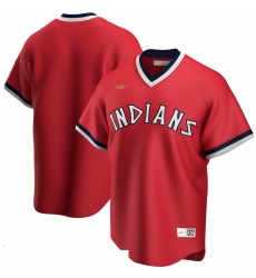 Men Cleveland Indians Nike Road Cooperstown Collection Team MLB Jersey Red