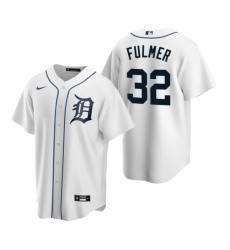 Mens Nike Detroit Tigers 32 Michael Fulmer White Home Stitched Baseball Jersey