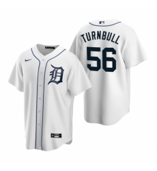 Mens Nike Detroit Tigers 56 Spencer Turnbull White Home Stitched Baseball Jersey