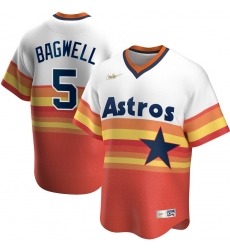 Men Houston Astros 5 Jeff Bagwell Nike Home Cooperstown Collection Player MLB Jersey White