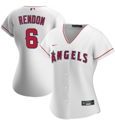 Los Angeles Angels 6 Anthony Rendon Nike Women Home 2020 MLB Player Jersey White