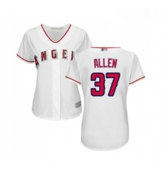 Womens Los Angeles Angels of Anaheim 37 Cody Allen Replica White Home Cool Base Baseball Jersey