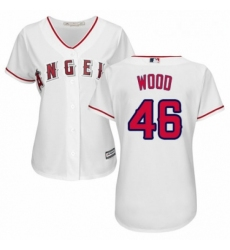 Womens Majestic Los Angeles Angels of Anaheim 46 Blake Wood Replica White Home Cool Base MLB Jersey