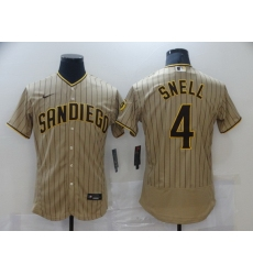 Men Nike San Diego Padres 4 SNELL Brown Authentic Alternate Player Jersey