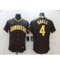 Men Nike San Diego Padres 4 SNELL Brown stitched MLB Jersey
