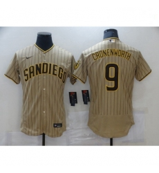 Youth Nike San Diego Padres 9 Jake Cronenworth Sand Brown 2021 Road Player Jersey