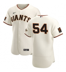 San Francisco Giants 54 Reyes Moronta Men Nike Cream Home 2020 Authentic 20 at 24 Patch Player MLB Jersey