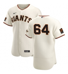 San Francisco Giants 64 Shaun Anderson Men Nike Cream Home 2020 Authentic 20 at 24 Patch Player MLB Jersey
