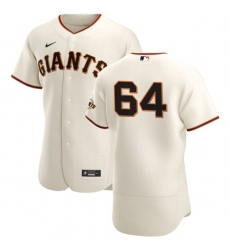San Francisco Giants 64 Shaun Anderson Men Nike Cream Home 2020 Authentic Player MLB Jersey