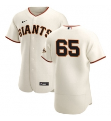 San Francisco Giants 65 Sam Coonrod Men Nike Cream Home 2020 Authentic Player MLB Jersey