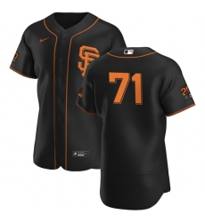 San Francisco Giants 71 Tyler Rogers Men Nike Black Alternate 2020 Authentic 20 at 24 Patch Player MLB Jersey