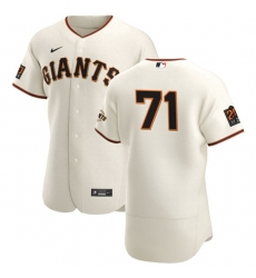 San Francisco Giants 71 Tyler Rogers Men Nike Cream Home 2020 Authentic 20 at 24 Patch Player MLB Jersey