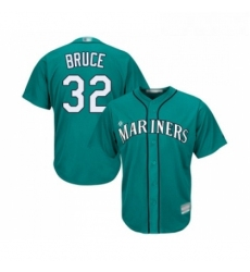 Youth Seattle Mariners 32 Jay Bruce Replica Teal Green Alternate Cool Base Baseball Jersey