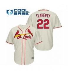 Youth St. Louis Cardinals #22 Jack Flaherty Authentic Cream Alternate Cool Base Baseball Player Jersey