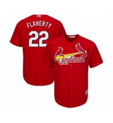 Youth St. Louis Cardinals #22 Jack Flaherty Authentic Red Alternate Cool Base Baseball Player Jersey