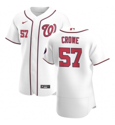 Washington Nationals 57 Wil Crowe Men Nike White Home 2020 Authentic Player MLB Jersey