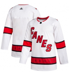 Hurricanes Blank White Road Authentic Stitched Hockey Jersey