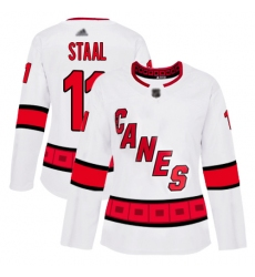 Women Hurricanes 11 Jordan Staal White Road Authentic Stitched Hockey Jersey