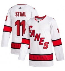 Youth Hurricanes 11 Jordan Staal White Road Authentic Stitched Hockey Jersey
