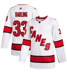 Youth Hurricanes 33 Scott Darling White Road Authentic Stitched Hockey Jersey