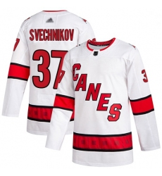 Youth Hurricanes 37 Andrei Svechnikov White Road Authentic Stitched Hockey Jersey