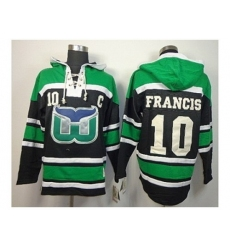 NHL Jerseys Hartford Whalers #10 Francis black-green[pullover hooded sweatshirt][patch C]