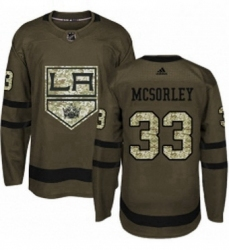 Mens Adidas Los Angeles Kings 33 Marty Mcsorley Authentic Green Salute to Service NHL Jersey