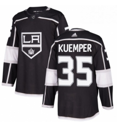 Mens Adidas Los Angeles Kings 35 Darcy Kuemper Authentic Black Home NHL Jersey