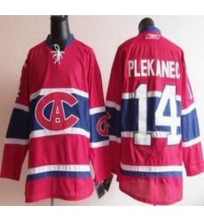 Montreal Canadiens 14 Tomas Plekanec Red NHL Jersey CA