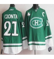 Montreal Canadiens 21 Brian Gionta Green NHL Jersey