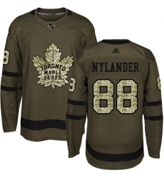 Youth Maple Leafs 88 William Nylander Green Salute to Service Stitched Hockey Jersey