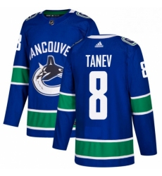Mens Adidas Vancouver Canucks 8 Christopher Tanev Authentic Blue Home NHL Jersey