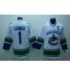 Vancouver Canucks 1 R.Luongo white jerseys C patch