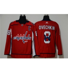 Capitals 8 Alexander Ovechkin Red Adidas Fashion Jersey