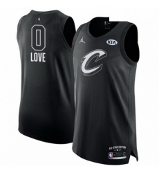 Mens Nike Jordan Cleveland Cavaliers 0 Kevin Love Authentic Black 2018 All Star Game NBA Jersey
