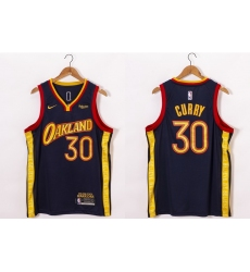 Men Golden State Warriors 30 Stephen Curry Black NEW 2021 Nike City Edition Stitched Jersey With Sponsor Logo