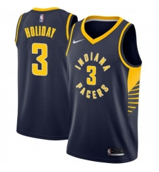Men Nike Indiana Pacers 3 Aaron Holiday Navy Blue NBA Swingman Icon Edition Jersey