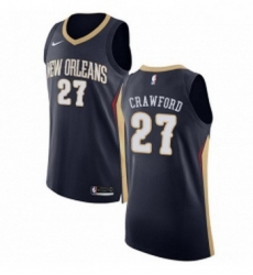 Womens Nike New Orleans Pelicans 27 Jordan Crawford Authentic Navy Blue Road NBA Jersey Icon Edition