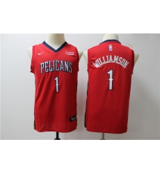 Youth Pelicans 1 Zion Williamson Red Youth Nike Swingman Jersey
