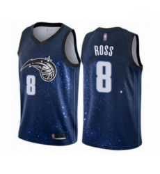 Mens Orlando Magic 8 Terrence Ross Authentic Blue Basketball Jersey City Edition