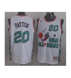 Seattle SuperSonics 20 Gary Payton 1996 All Star White Throwback Jersey