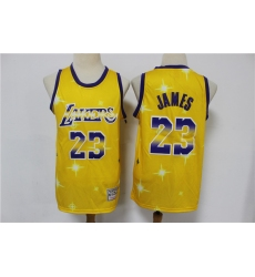 Men Los Angeles Lakers Lebron James 23 Full Stars Limited Jersey