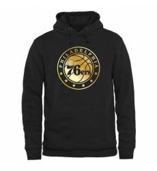 NBA Mens Philadelphia 76ers Gold Collection Pullover Hoodie Black