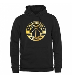 NBA Mens Washington Wizards Gold Collection Pullover Hoodie Black