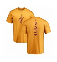 Men NBA Nike Cleveland Cavaliers 9 Channing Frye Gold One Color Backer T Shirt