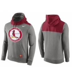 MLB Men St Louis Cardinals Nike Gray Cooperstown Collection Hybrid Pullover Hoodie