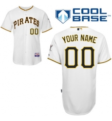 Men Women Youth All Size Pittsburgh Pirates White Customized Cool Base Jersey 3
