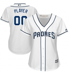 Men Women Youth All Size San Diego Padres Custom Cool Base White Jersey