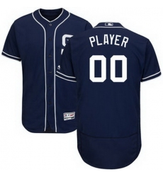 Men Women Youth All Size San Diego Padres Majestic Navy Alternate Flex Base Authentic Collection Custom Jersey