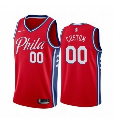 Men Women Youth Toddler All Size Philadelphia 76ers Custom Red 2019 20 Statement Edition NBA Jersey